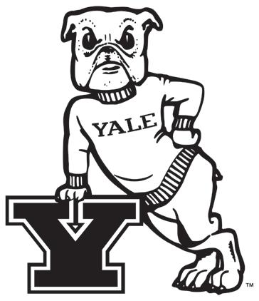 Yale bulldog logos clipart vector royalty free stock Yale Bulldogs Primary Logo (1972) - Bulldog with sweatshirt ... vector royalty free stock