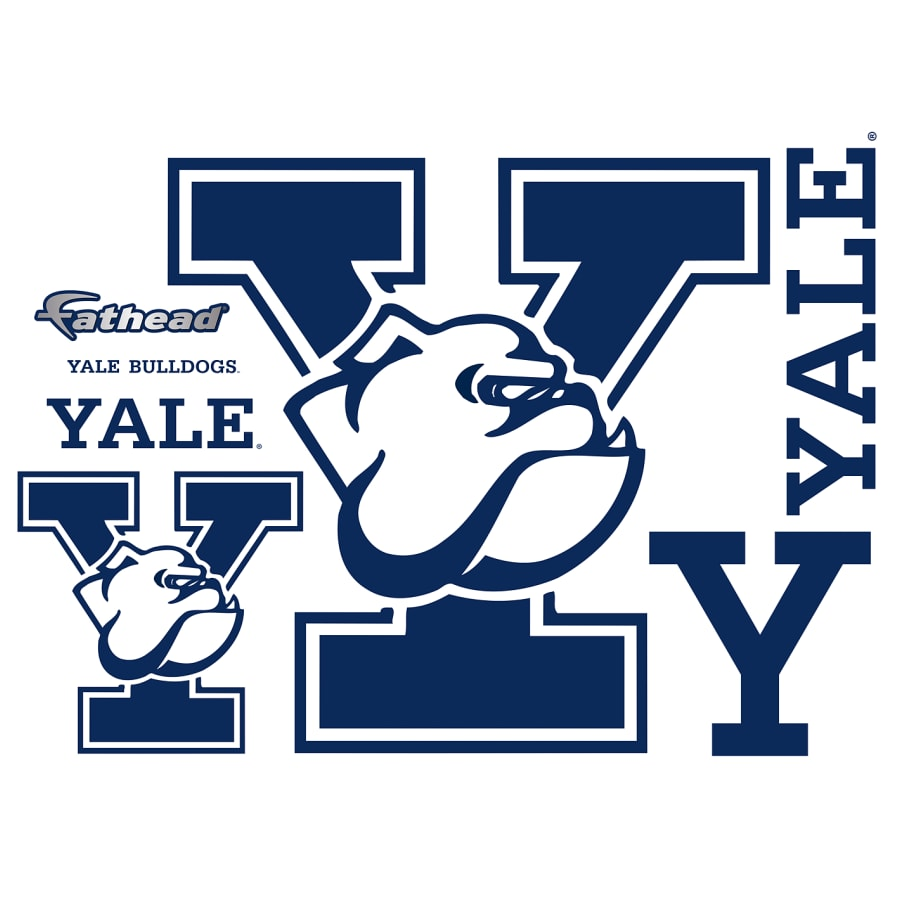 Yale bulldog logos clipart clip library download Yale Bulldogs: Logo - Giant Officially Licensed Removable Wall Decal clip library download