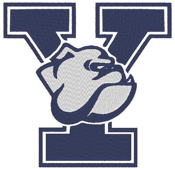 Yale bulldog logos clipart graphic royalty free library Yale Bulldogs Embroidery Design. 3 Sizes | Products in 2019 ... graphic royalty free library