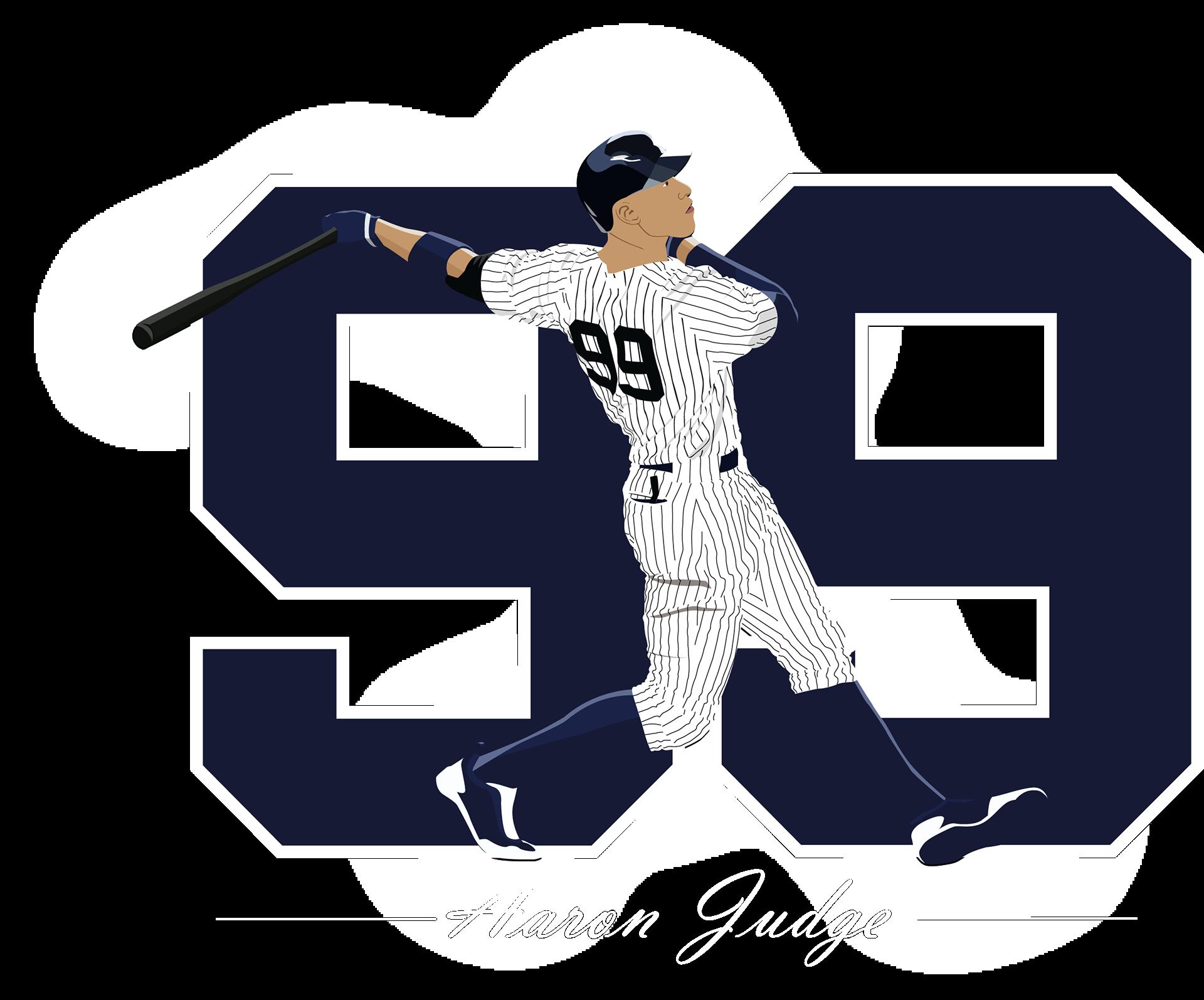 Yankees baseball clipart graphic freeuse library Murphy Miranda - Aaron Judge 99 Illustration graphic freeuse library