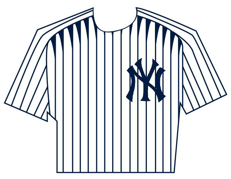 Yankees shirt clipart