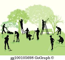 Yardwork clipart banner free stock Yard Work Clip Art - Royalty Free - GoGraph banner free stock