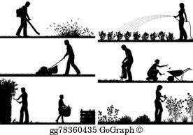 Yardwork clipart picture freeuse download Yard Work Clip Art - Royalty Free - GoGraph picture freeuse download