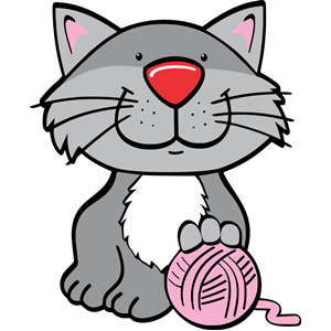 Yarn and cat clipart