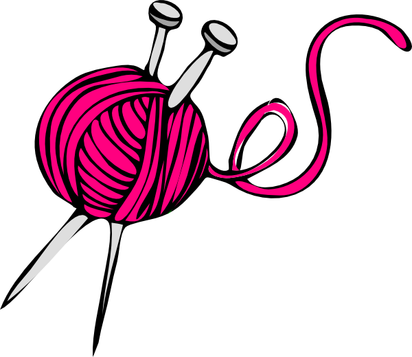 Yarn clipart pink picture freeuse Pink Yarn Clip Art at Clker.com - vector clip art online ... picture freeuse