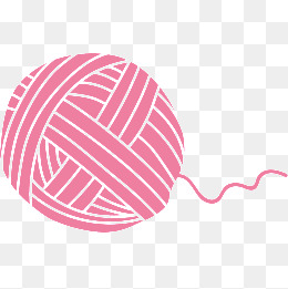 Yarn clipart pink vector royalty free download Pink Wool Ball Vector Material, Pink, Ba #65509 - PNG Images ... vector royalty free download