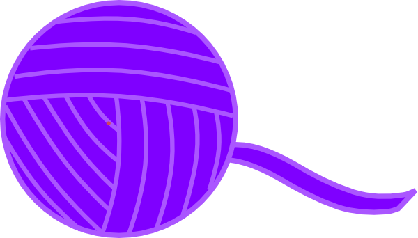Yarn clipart purple black and white stock Purple Ball Of Yarn Clip Art at Clker.com - vector clip art ... black and white stock