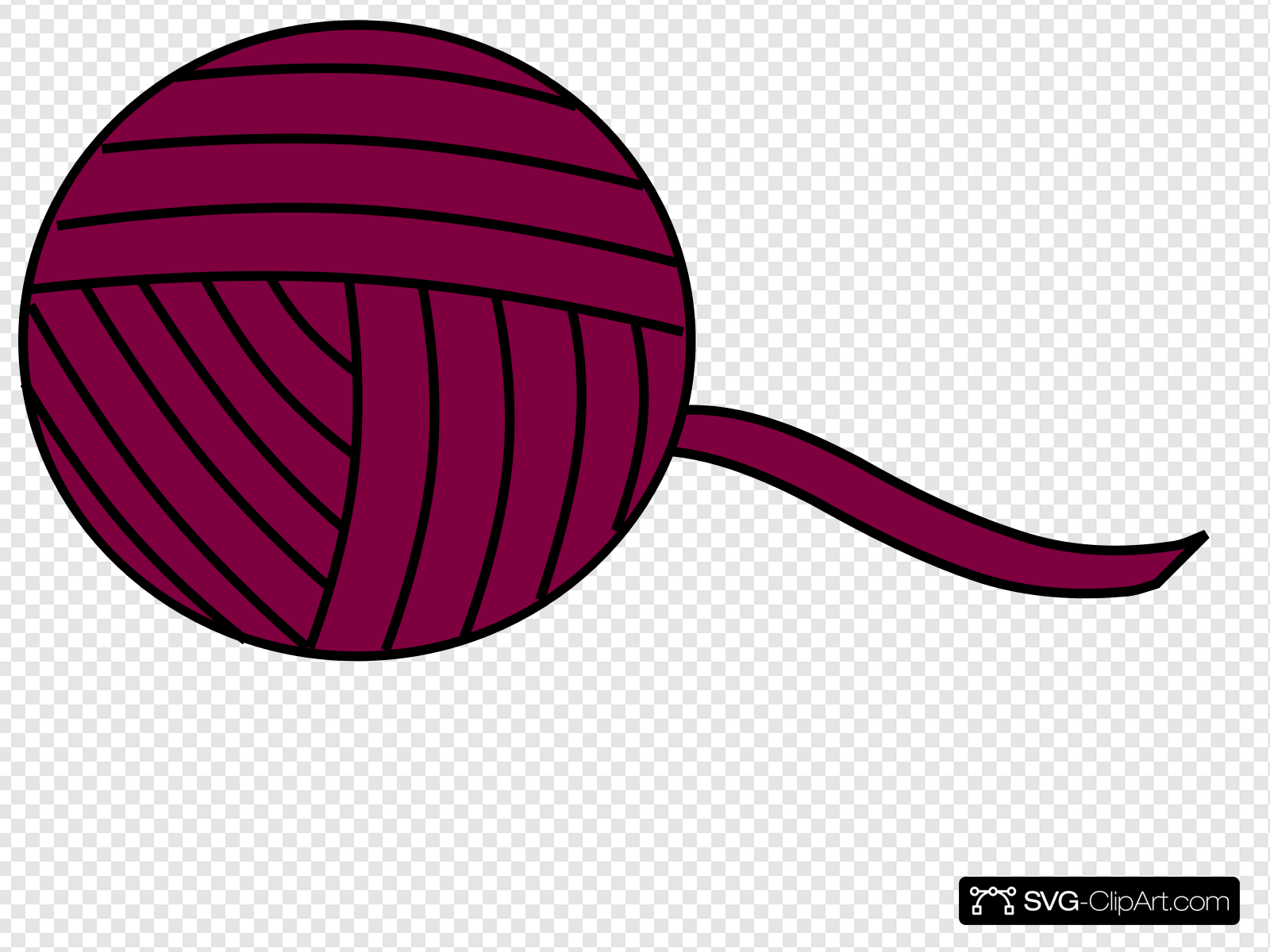 Yarn clipart purple clip transparent Purple Yarn Ball Clip art, Icon and SVG - SVG Clipart clip transparent