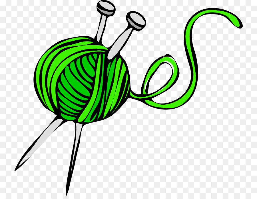 Yarn clipart with crochet hooks picture Flower Line Art clipart - Yarn, Green, Leaf, transparent ... picture