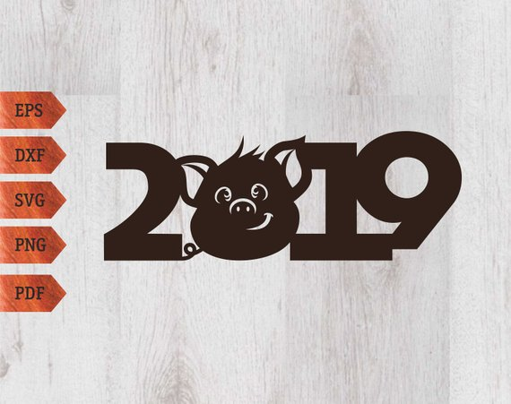 Year of the pig 2019 clipart clip art royalty free Pig 2019 svg Symbol of the year 2019 pig Christmas pig ... clip art royalty free