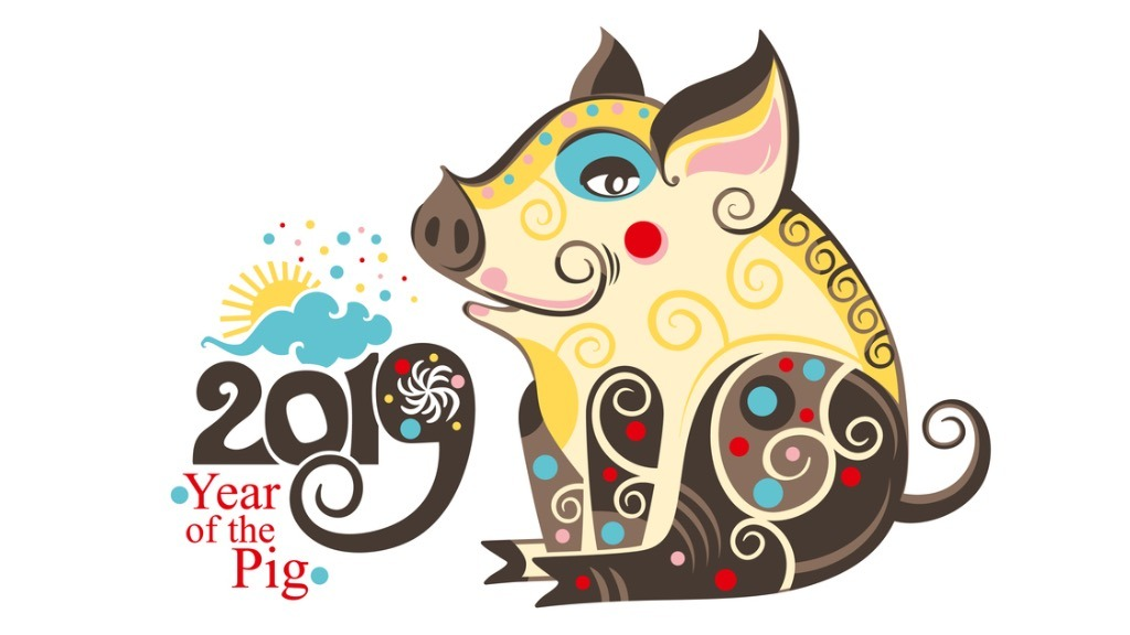 Year of the pig 2019 clipart svg black and white stock Closing Its 60-Year Cycle, 2019 Is The Year of the Earth Pig ... svg black and white stock