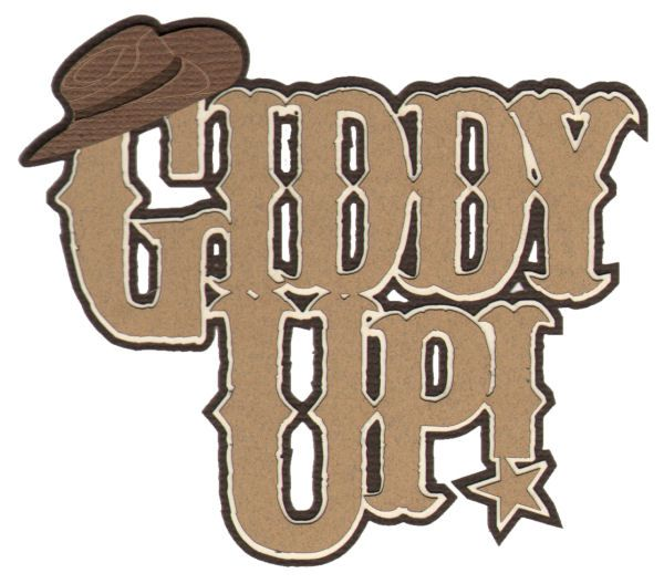 Yeehawing clipart clip Yeehaw! Use this die cut for your rodeo, horseback riding or ... clip