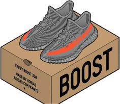 Yeezy box clipart svg free library 76 Best stickers images in 2019 | Stickers, Laptop stickers ... svg free library