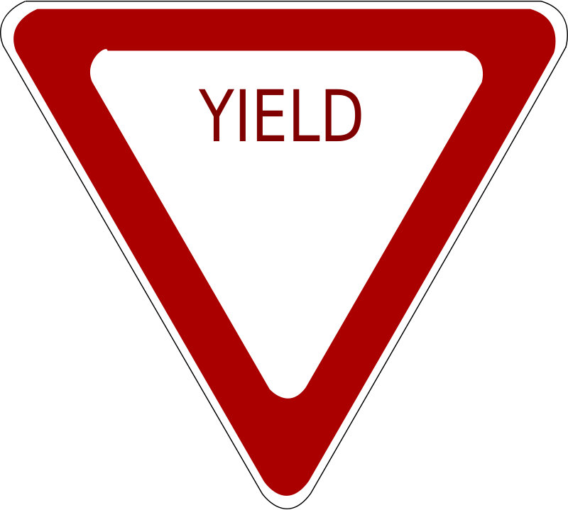 Yeild clipart graphic black and white Free Clipart: Yield Road Sign | schoolfreeware graphic black and white