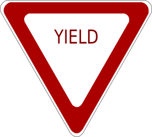 Yeild clipart graphic library Yield Sign Clip Art at Clker.com - vector clip art online ... graphic library