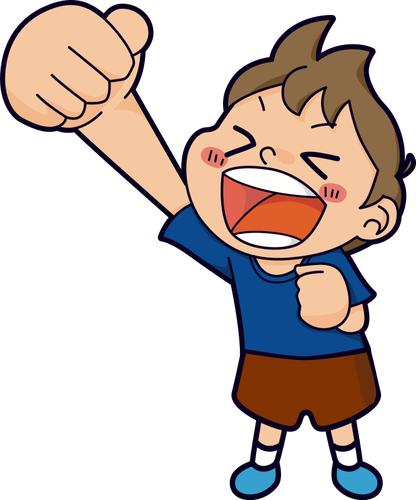 Yelling at a child clipart
