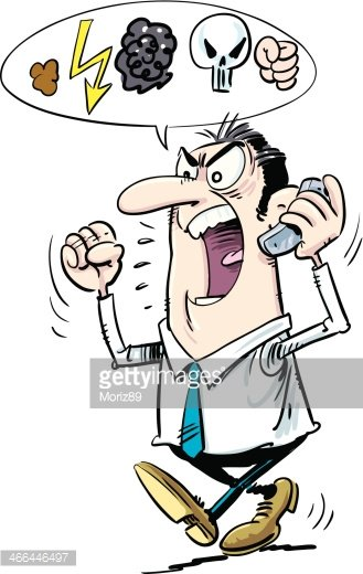Yelling hello clipart clip art royalty free library Man Yelling Over The Mobile premium clipart - ClipartLogo.com clip art royalty free library