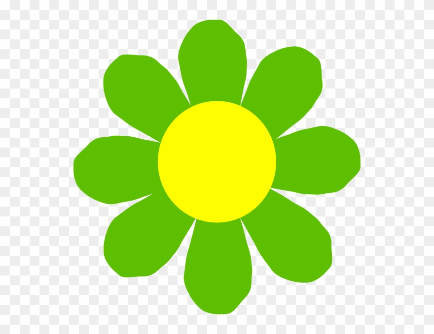 Green and yellow clipart image black and white library Yellow Green Flower Clipart - Png Download (#440806 ... image black and white library