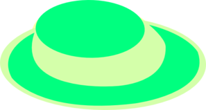 Yellow and green hat clipart graphic royalty free stock Green And Yellow Ladies Hat Clip Art at Clker.com - vector ... graphic royalty free stock