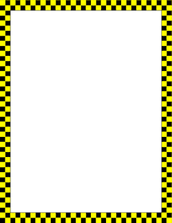 Yellow and teal border clipart free stock Yellow and Black Checkered Border | clipart - frames ... free stock