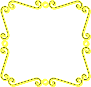 Yellow and teal border clipart clip royalty free Yellow Scroll Border clip art | Clipart Panda - Free Clipart ... clip royalty free