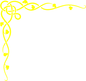 Yellow and teal border clipart picture freeuse Yellow Border Clip Art at Clker.com - vector clip art online ... picture freeuse