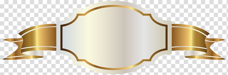 Yellow and white label clipart jpg black and white stock Banner Gold , White Label and Gold Banner , gold ribbon logo ... jpg black and white stock
