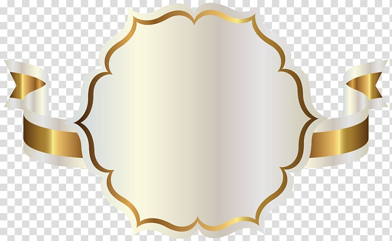 Yellow and white label clipart clip free Ribbon , White Label with Gold Ribbon , white and gold ... clip free