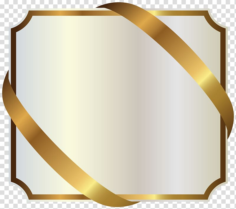Yellow and white label clipart black and white Ribbon Gold , White Label with Gold Ribbon , square gold ... black and white