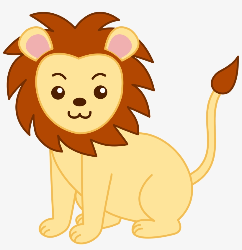 Yellow animals clipart png transparent library Little Yellow Lion Clip Art - Animals Clipart Transparent ... png transparent library