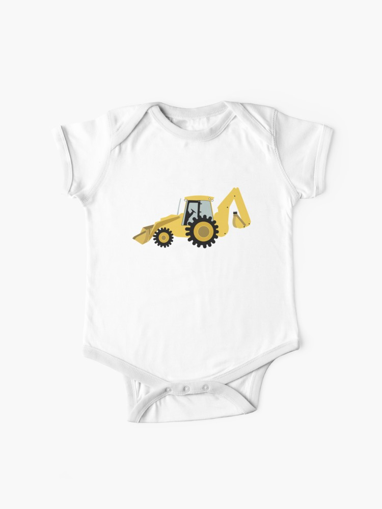 Yellow backhoe solid clipart png library library Construction Backhoe Digger   Baby One-Pieces png library library