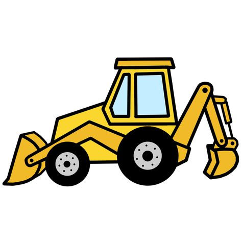 Yellow backhoe solid clipart black and white Backhoe clipart - 142 transparent clip arts, images and ... black and white