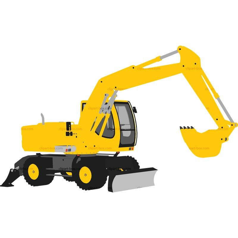 Yellow backhoe solid clipart image royalty free library CLIPART EXCAVATOR   Royalty free vector design   clipart ... image royalty free library