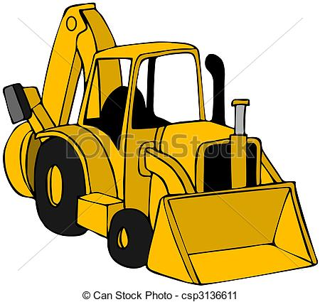 Yellow backhoe solid clipart clip art freeuse Backhoe clipart - 142 transparent clip arts, images and ... clip art freeuse