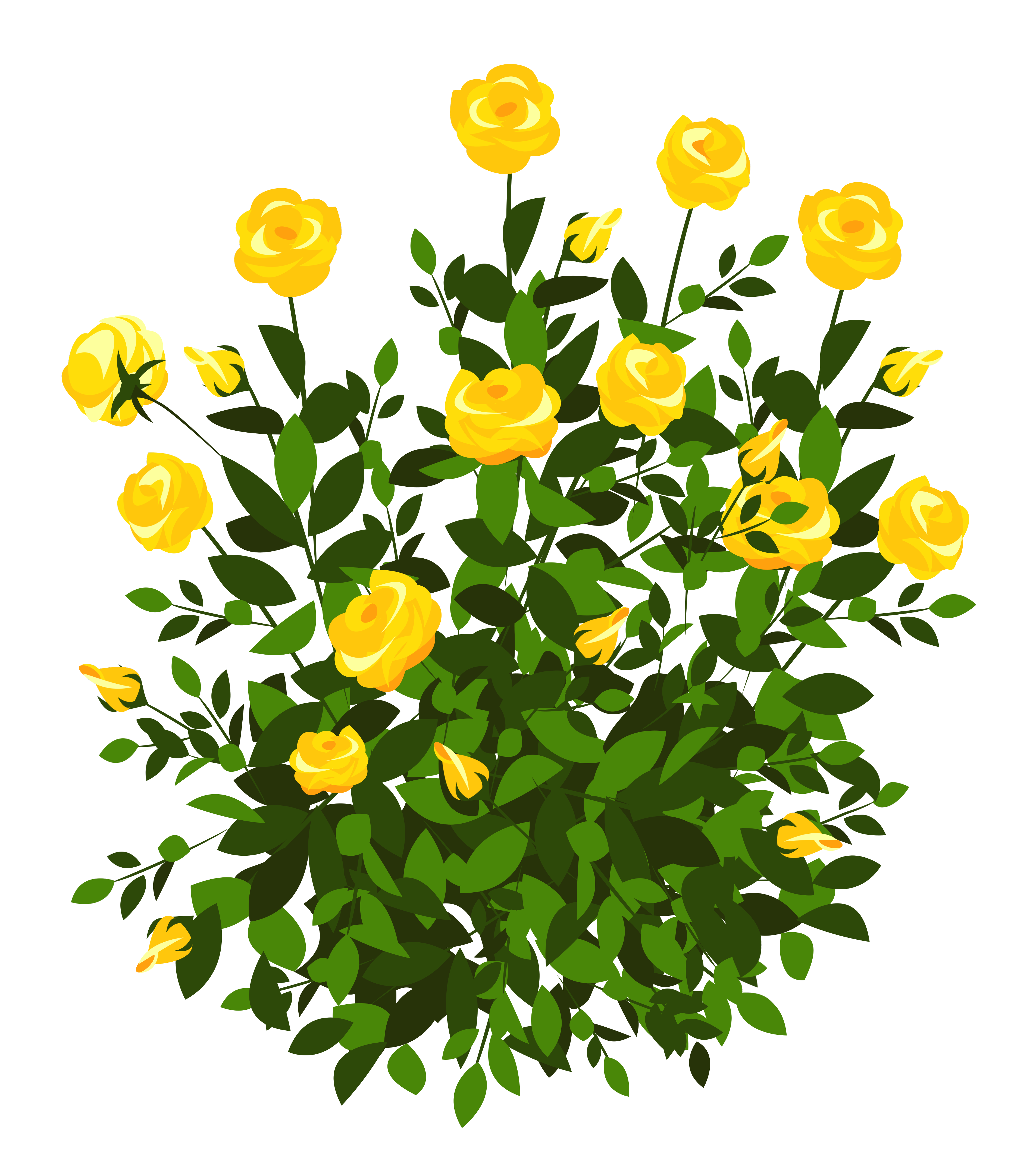 Yellow bell flower clipart transparent stock Yellow Rose Bush PNG Clipart Picture | Gallery Yopriceville - High ... transparent stock