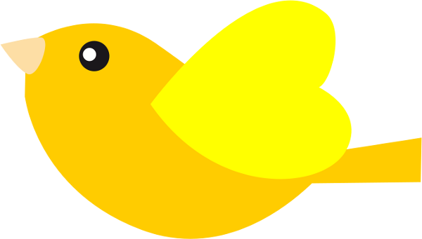 Yellow bird clipart free vector royalty free stock Gallery for cute bird clip art free 2 clipartcow ... vector royalty free stock
