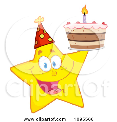 Yellow birthday cake clipart clipart library Royalty Free Birthday Cake Illustrations by Hit Toon Page 1 clipart library