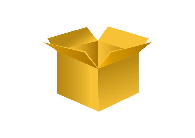 Yellow box clipart svg Open Yellow Box Vector svg