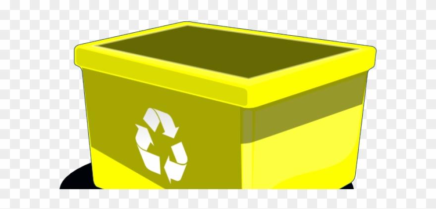 Yellow box clipart jpg free stock Plastic Clipart Recycling Box - Yellow Paper Recycling Bin ... jpg free stock