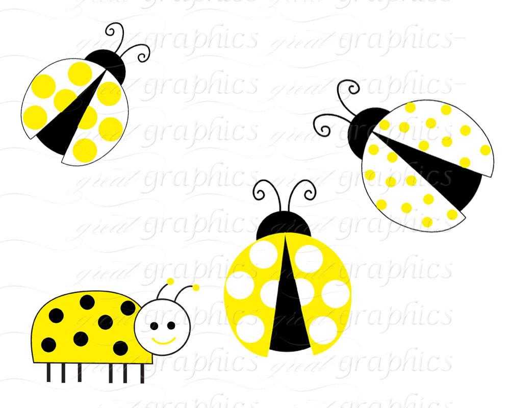 Yellow bug clipart png royalty free stock Yellow Lady Bug Clip Art Ladybug Digital Clip Art Digital Paper Ladybug  Clipart Printable Ladybug Party Paper - Instant Download png royalty free stock