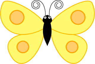 Yellow bug clipart picture royalty free library butterfly spotted wings yellow - /animals/bugs/butterfly ... picture royalty free library