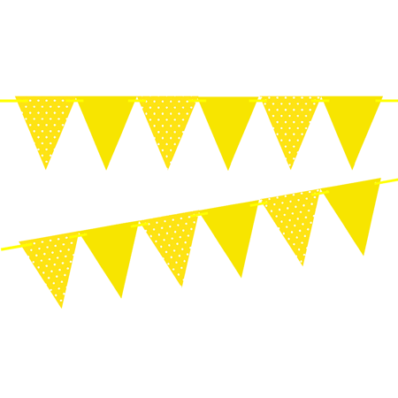 Yellow bunting clipart jpg Yellow Polka Dot / Solid Yellow 10ft Vintage Pennant Banner Paper Triangle  Bunting Flags for Weddings, Birthdays, Baby Showers, Events & Parties jpg
