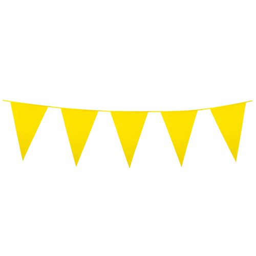 Yellow bunting clipart vector freeuse library Yellow Giant Outdoor Plastic Bunting - 10m vector freeuse library