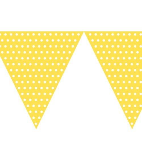 Yellow bunting clipart clipart free Polka Dot Yellow Bunting (9ft Long) clipart free