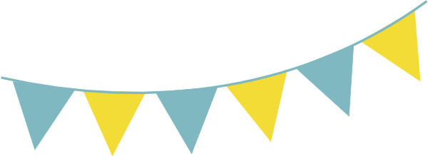 Yellow bunting clipart png black and white stock Blue Yellow Bunting PNG, SVG Clip art for Web - Download ... png black and white stock