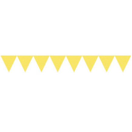 Yellow bunting clipart svg royalty free stock Bunting Flags - Yellow with Spots svg royalty free stock