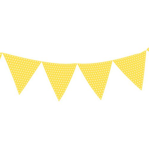 Yellow bunting clipart graphic black and white stock Light Yellow Polka Dot Paper Bunting - 2.7m graphic black and white stock