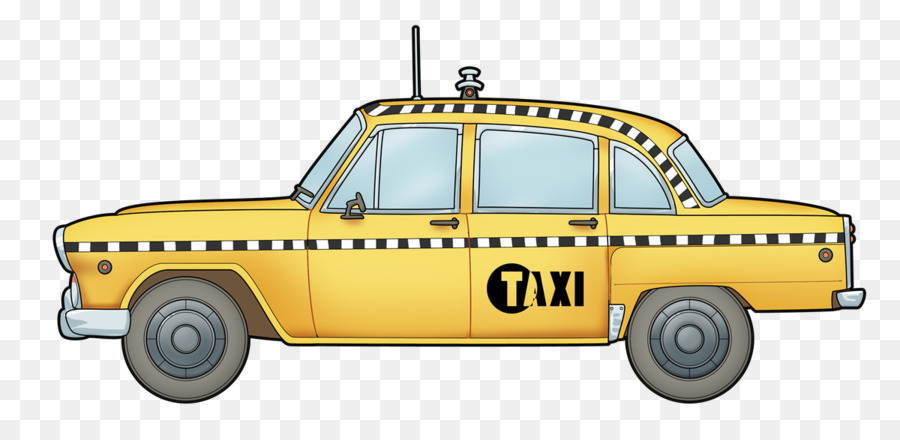 Yellow taxi clipart jpg freeuse library New York City clipart - Taxi, Car, transparent clip art jpg freeuse library