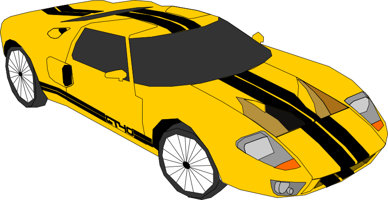 Yellow car top view clipart banner library Free Clipart: Yellow car | Machovka banner library