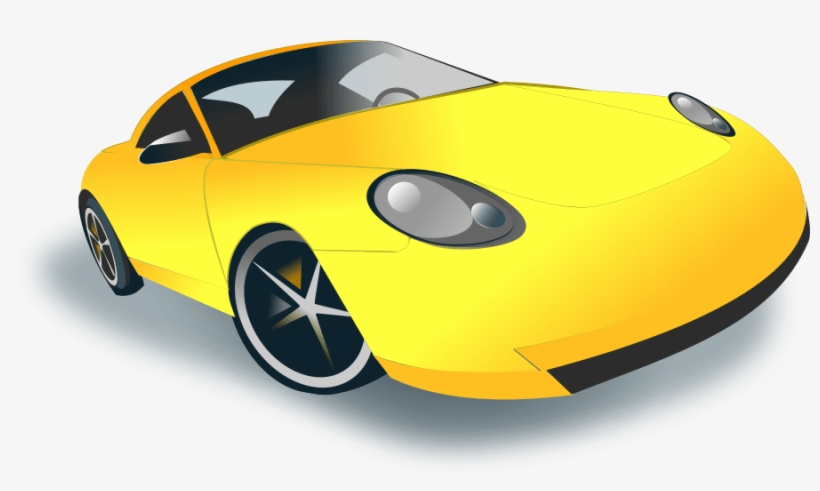 Yellow car clipart free graphic transparent stock Sports Car - Yellow Sports Car Clipart - Free Transparent ... graphic transparent stock